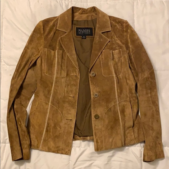 Wilsons Leather Jackets & Blazers - Wilson's Leather Suede Moto Jacket